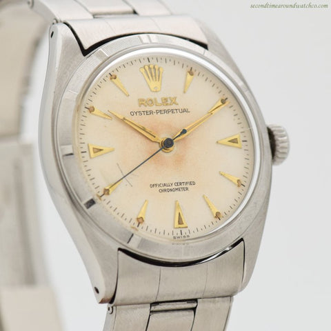 1957 Vintage Rolex Oyster Perpetual Ref. 6085 Stainless Steel Watch