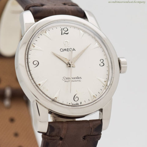1953 Vintage Omega Seamaster Ref. C-2557-7-SC Stainless Steel Watch