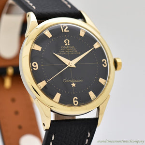 1951 Vintage Omega Constellation Reference 2648-2 14k Yellow Gold & Stainless Steel Watch