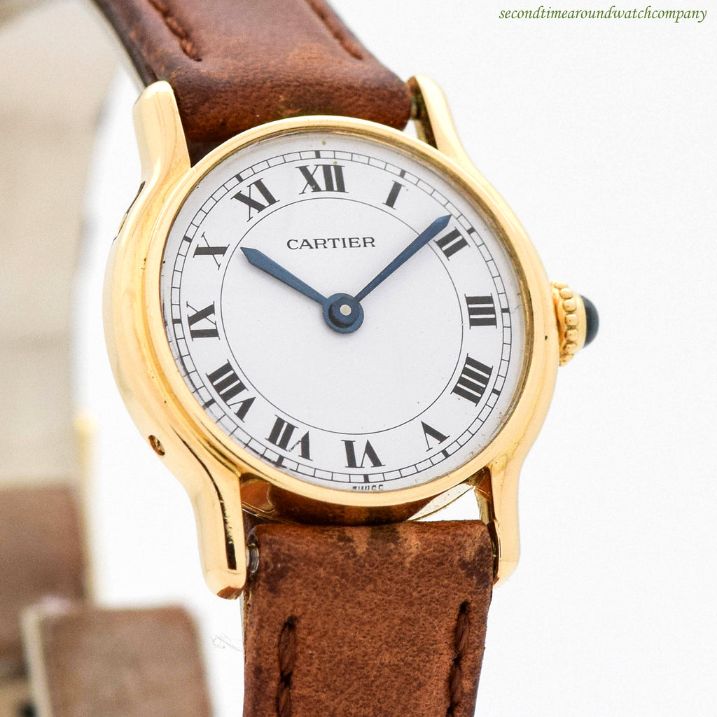 2000's era Cartier Ladies 18k Yellow Gold Watch
