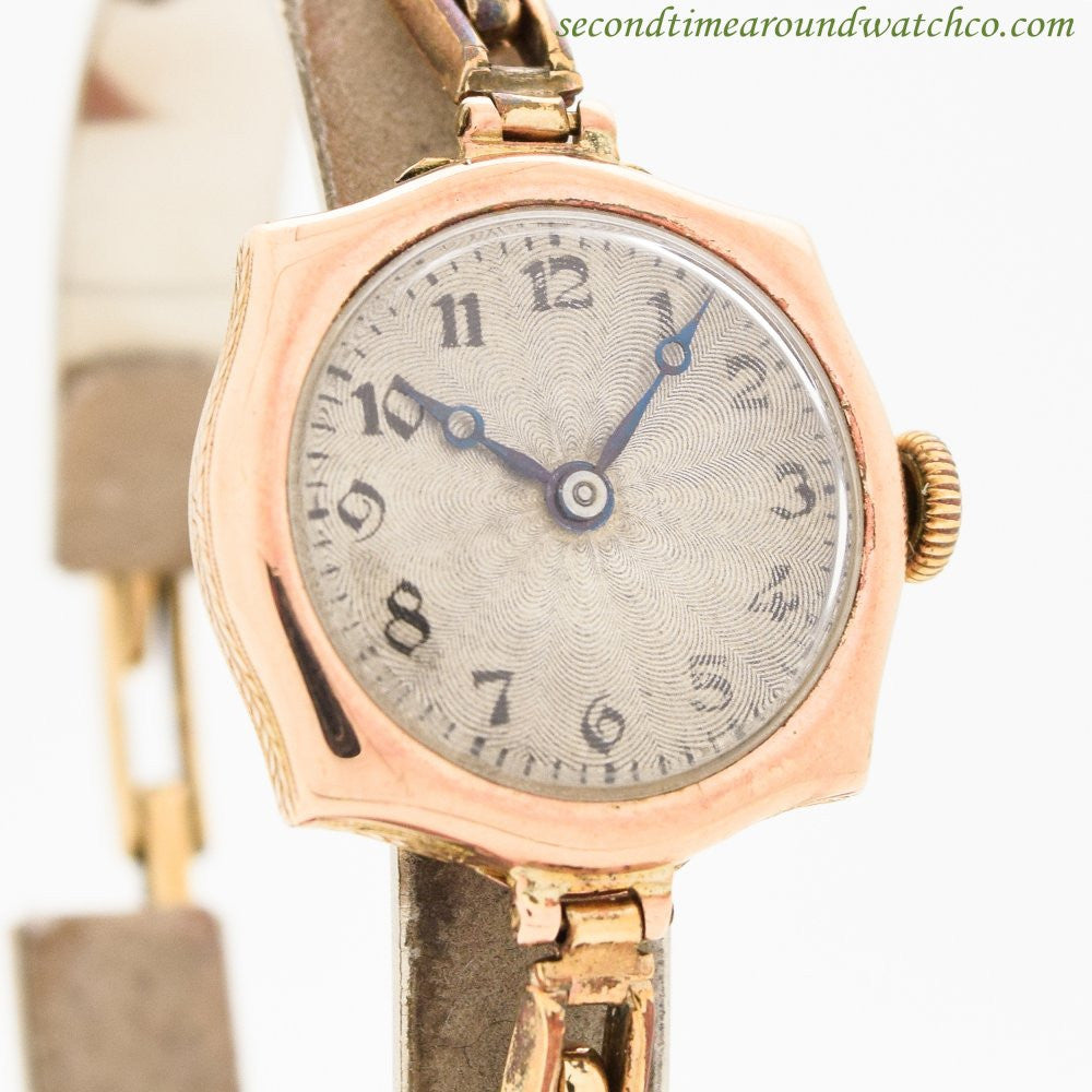 1910's Vintage Rolex Ladies 9k Rose Gold Watch