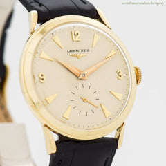 1958 Vintage Longines 14k Yellow Gold Watch