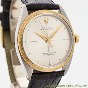 1962 Vintage Rolex Zephyr Ref. 1008 Stainless Steel Watch