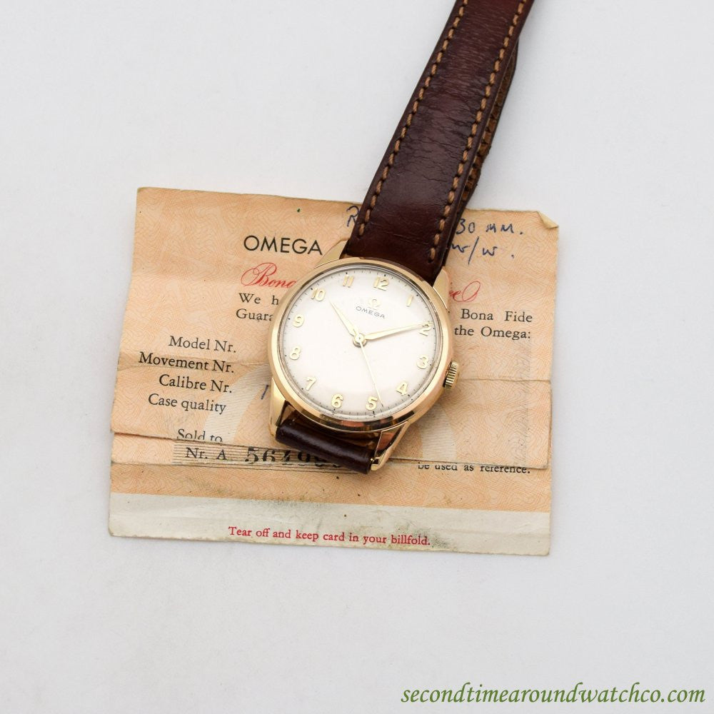 1962 Vintage Omega Ref. 14726-2-SC 14K Yellow Gold Filled & Stainless Steel Watch