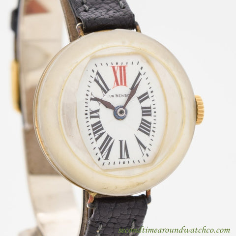 1910's Vintage J.W. Benson Mother Of Pearl Watch