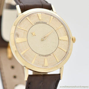 1960 Vintage Longines Mystery Dial 10k Yellow Gold Filled Watch