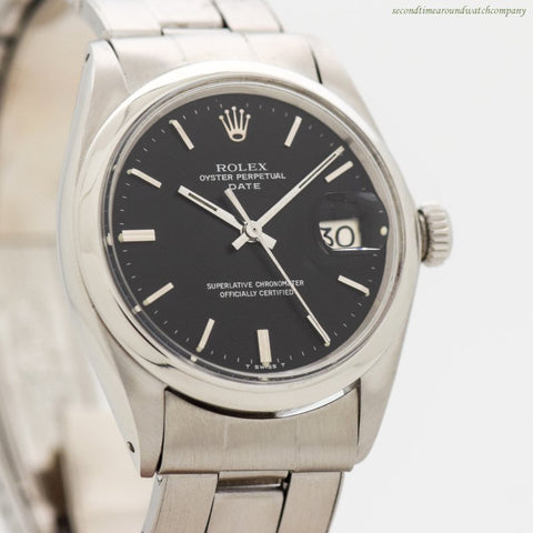 1969 Vintage Rolex Date Automatic Reference 1500 Stainless Steel Watch