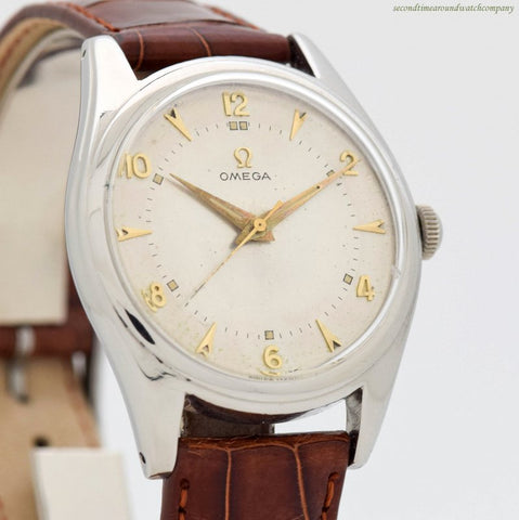 1949 Vintage Omega Reference 2537-3 Stainless Steel Watch