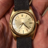 1947 Vintage Rolex Bubbleback Reference 3131 14k Yellow Gold Watch (# 13113)