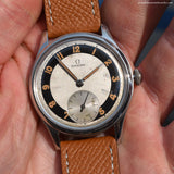 1945 Vintage Omega Suveran Reference 2400-7 Stainless Steel Watch