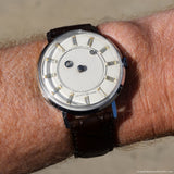 1960's Vintage Louvic De Luxe Mystery Dial Stainless Steel Watch