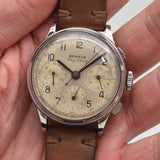 1950's Vintage Benrus Sky Chief Oversized Chronograph Stainless Steel Watch (# 13419)