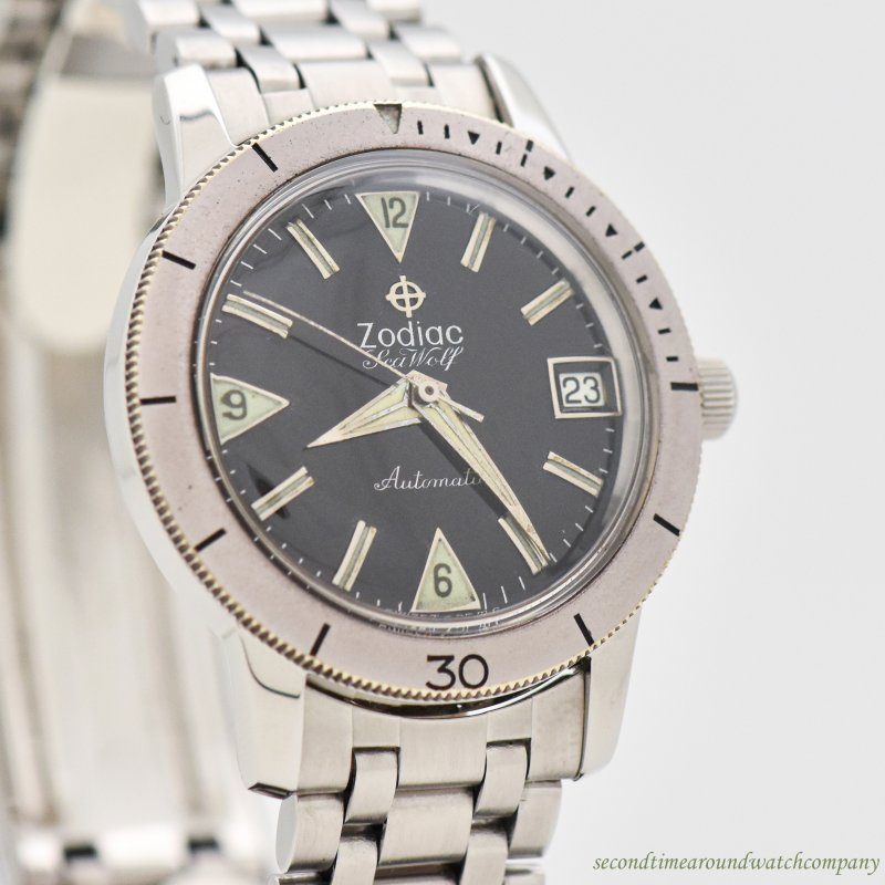 1960's-70's era Zodiac Sea Wolf Reference 722-916 Stainless Steel Watch