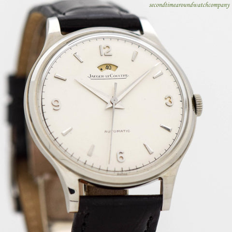 1950's Vintage Jaeger LeCoultre Power Reserve Automatic Stainless Steel Watch