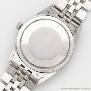 1971 Vintage Rolex Thunderbird Datejust Reference 1625 14k White Gold & Stainless Steel