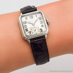 1940 Vintage Hamilton Hastings 14k White Gold Filled Watch