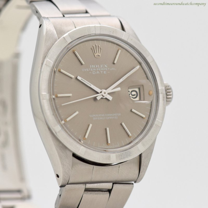 1971 Vintage Rolex Date Automatic Reference 1501 Stainless Steel Watch