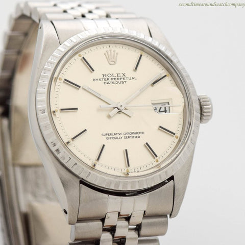 1972 Vintage Rolex Datejust Ref. 1601 Stainless Steel Watch