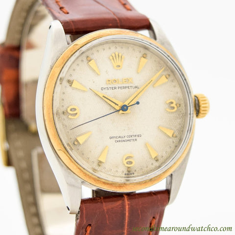 1955 Vintage Rolex Oyster Perpetual Ref. 6564 14k Yellow Gold & Stainless Steel Watch
