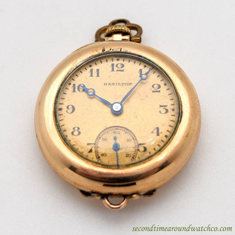 1924 Vintage Hamilton Pendant Watch 14k Rose Gold Watch