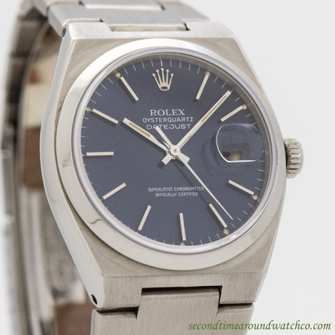 1979 Vintage Rolex Oysterquartz Datejust Ref. 17000 Stainless Steel Watch