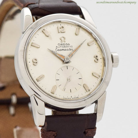 1958 Vintage Omega Seamaster Ref. 2846-5-SC Stainless Steel Watch