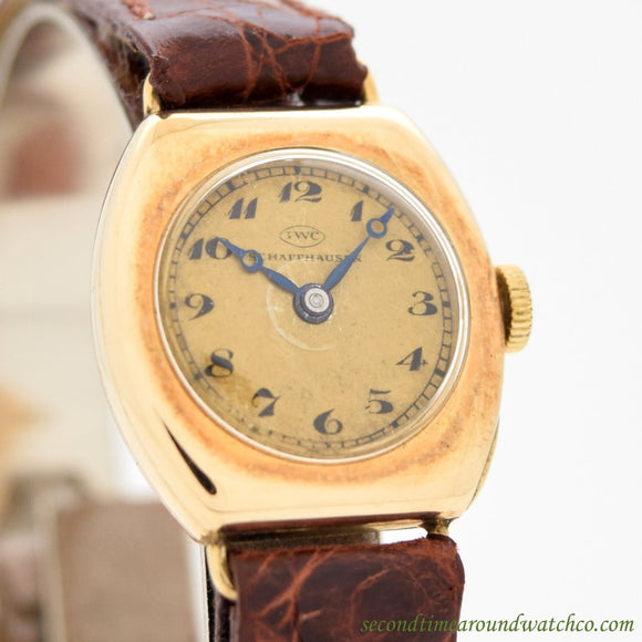 1920's Vintage International Watch Co. Ladies 14k Yellow Gold Watch