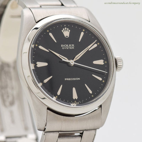 1958 Vintage Rolex Oyster Precision Reference 6424 Stainless Steel Watch