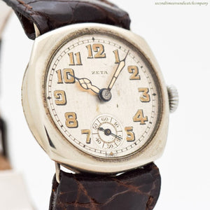 1910's era Zeta Cushion-shaped Nickle Watch