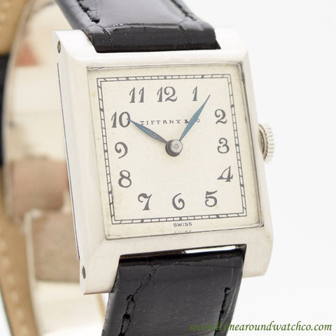 1930's Vintage Tiffany & Co. Square-shaped Platinum Watch