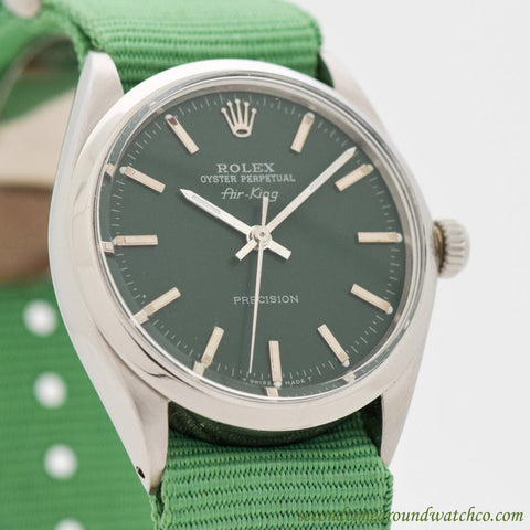 1969 Vintage Rolex Air-King Ref. 5500/1002 Stainless Steel Watch