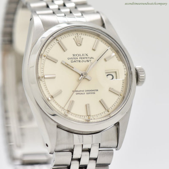 1969 Vintage Rolex Datejust Reference 1600 Stainless Steel Watch