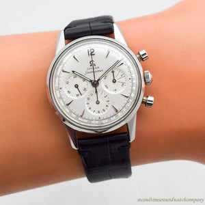 1960 Vintage Omega Seamaster 3-Register Chronograph Stainless Steel Watch