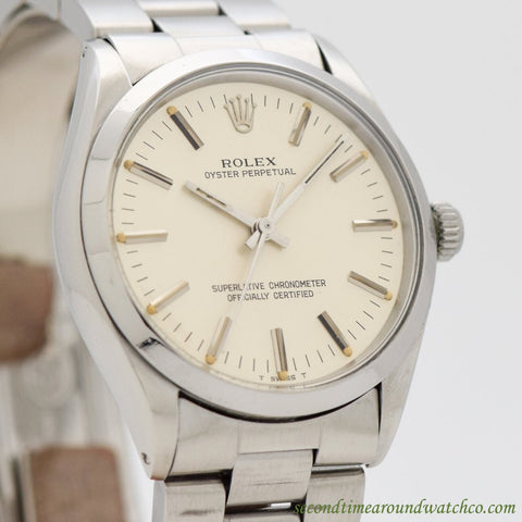 1981 Vintage Rolex Oyster Perpetual Ref. 1002 Stainless Steel Watch