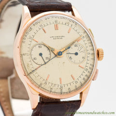 1952 Vintage Universal Geneve Uni-Compax Ref. 124103 18k Rose Gold Watch