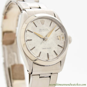 1962 Vintage Rolex Oysterdate Ref. 6466 Mid-sized Stainless Steel Watch