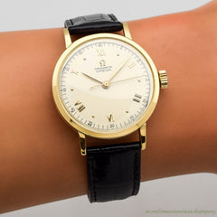1947 Vintage Omega Chronometre Ref. 2367 18k Yellow Gold Watch