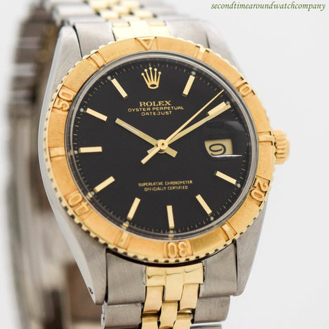 1962 Vintage Rolex Thunderbird Datejust Ref. 1625 14k Yellow Gold & Stainless Steel Watch