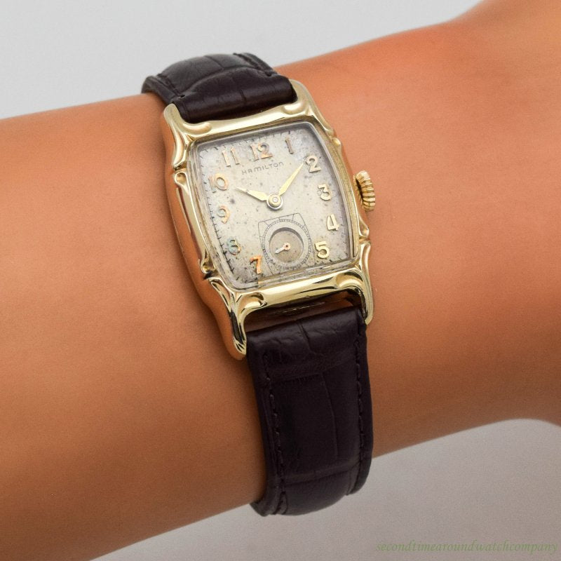 1954 Vintage Hamilton Lawton 10k Yellow Gold Filled Watch