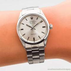 1968 Vintage Rolex Air-King Reference 5500 Stainless Steel Watch