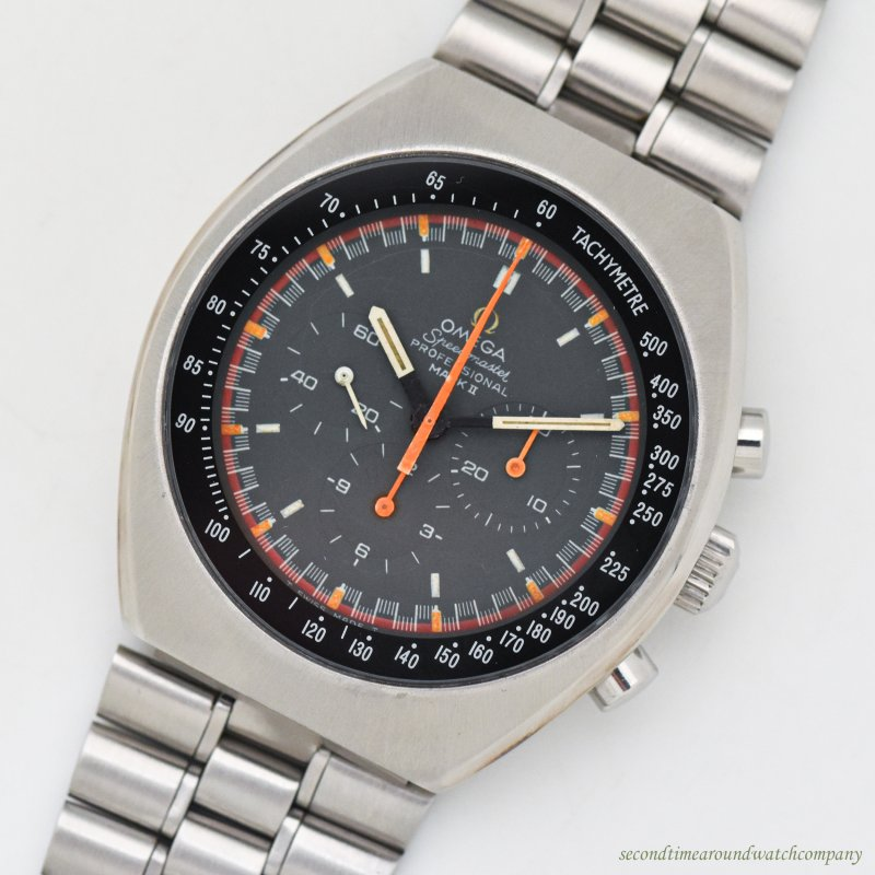 "1970 Vintage Omega Speedmaster Mark Ii Reference 145.014 ""Racing-style"" Stainless Steel Watch"