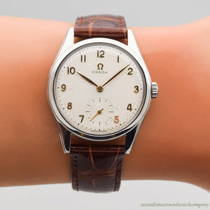 1953 Vintage Omega Reference 2536-5 Stainless Steel Watch