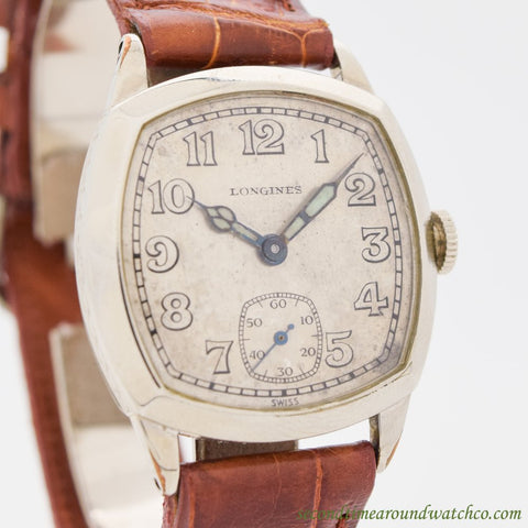 1927 Vintage Longines 14K White Gold Filled Watch