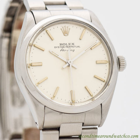 1982 Vintage Rolex Air-King Ref. 5500/1002 Stainless Steel Watch