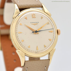 1952 Vintage Longines 14k Yellow Gold Watch (# 13078)