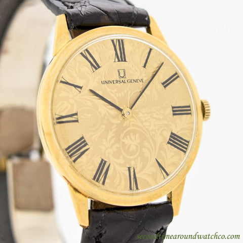 A. Men's Vintage  Universal Geneve Ultra Thin 18k Yellow Gold