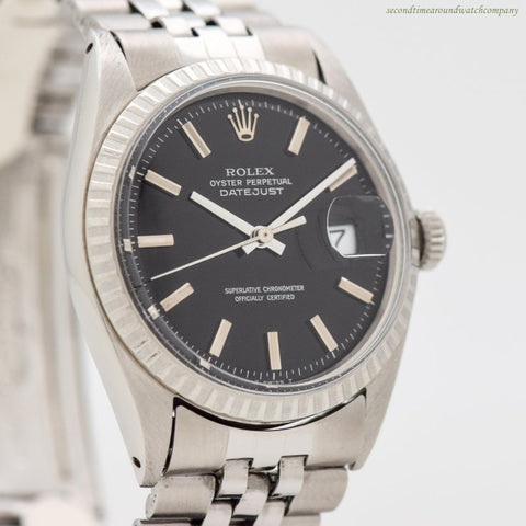 1968 Vintage Rolex Datejust Reference 1603 Stainless Steel Watch