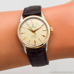 1959 Vintage Tudor By Rolex Oyster Prince Ref. 7967 14k Yellow Gold & Stainless Steel Watch