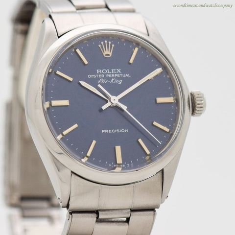 1967 Vintage Rolex Air-King Reference 5500 Stainless Steel Watch