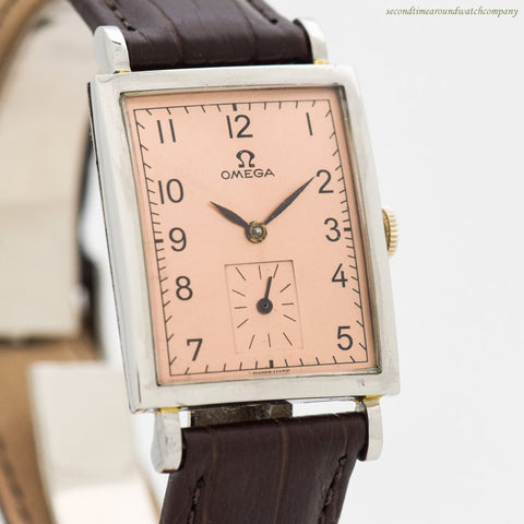 1959 Vintage Omega Rectangular-shaped Stainless Steel Watch